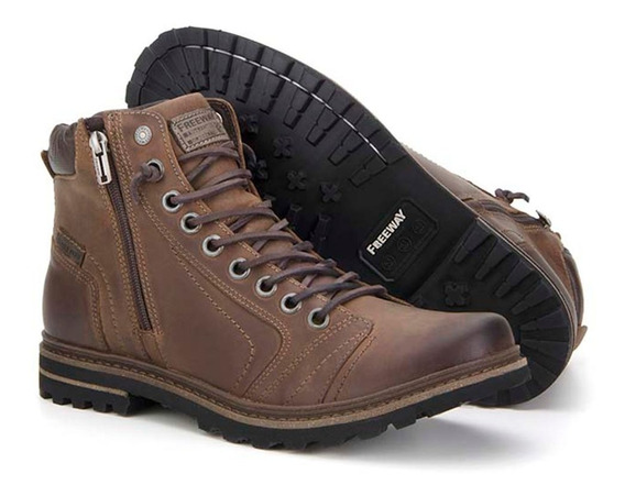 Bota Masculina Couro Legitimo Freeway Absolut Casual