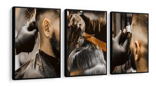Quadro Decorativo Barbearia Cortes Cabelo Decoração Salão