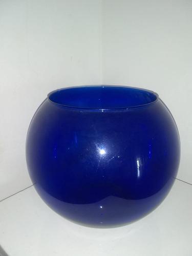 Pecera De Cristal Color Cobalto
