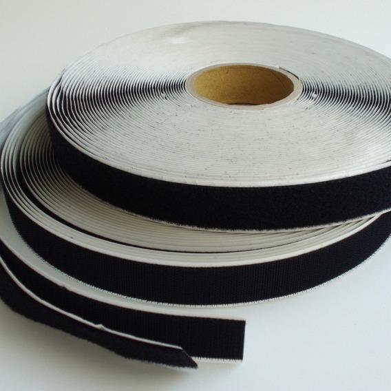 Fita Contato Fecho Adesivada Rolo 25mts X 25mm (macho Fêmea)