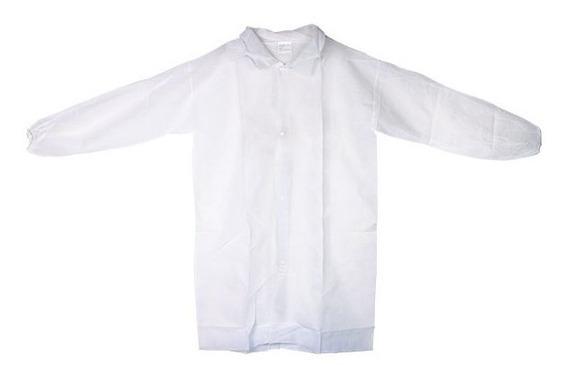 Bata Desechable Manga Larga Derma Guard Blanca
