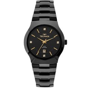 Relógio Technos Feminino Cerâmica Preto Gn10au/4p - Promo Nf