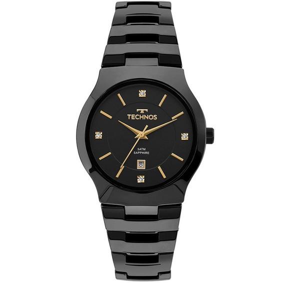 Relógio Technos Feminino Cerâmica Preto Gn10au/4p - Nf