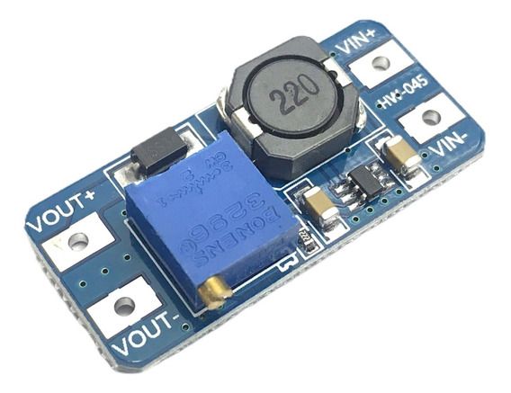 Fuente Step Up Mt3608 Dc Dc Booster Hasta 28v Arduino