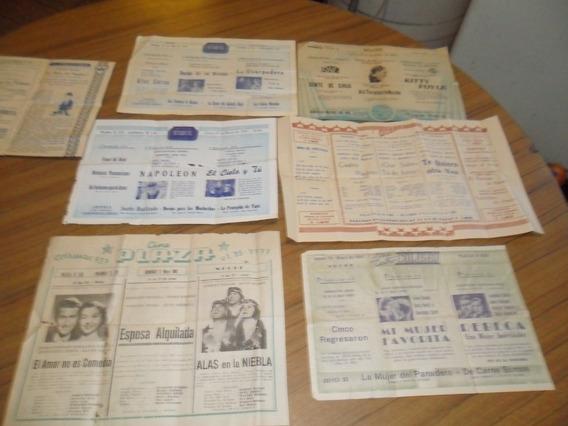 Lote 7 Antiguos¡ Programas De Cine Años 1940 41 Coleccion¡