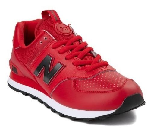 Tenis New Balance 574 Mod. 401737 Metal Rojo Hombre / J