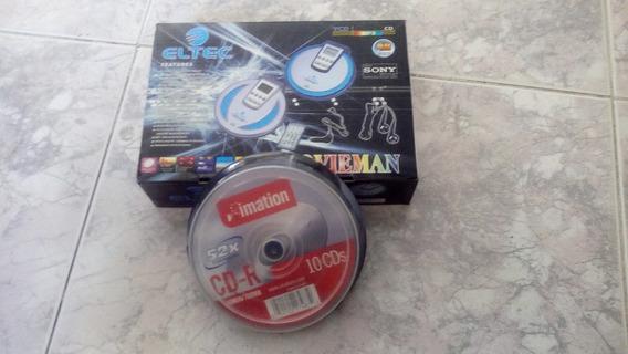 Walkman Cd, Vcd, Mp3, Control Remoto + 10 Cd Imation Virgen.
