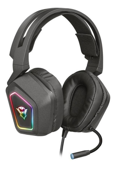 Headset Gamer Trust Gxt Blizz 7.1 Rgb Com Fio Pc Novo