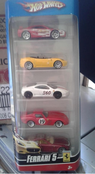 Miniaturas Pack C/ 5 Ferrari Raridade Hot Wheels Lacrado