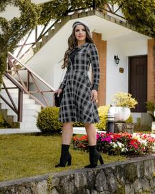 Vestido Feminino Midi Moda Evangélica Roupas Femininas