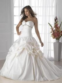 Vestido De Noiva Branco 40 42 44 - Pronta Entrega - Vn00182
