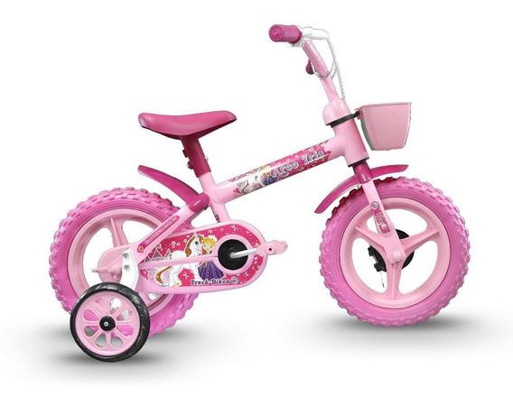 Bicicleta Track Arco Iris Infantil Aro 12 Seminova