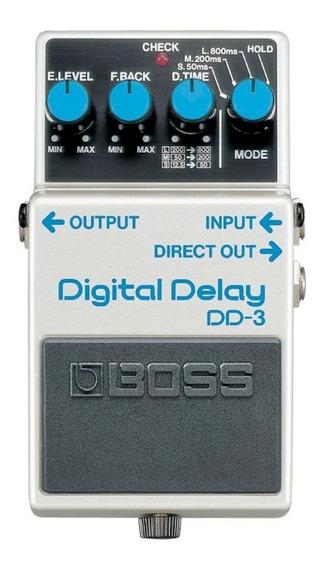 Pedal Boss Digital Delay Dd-3 Novo Cheiro De Musica