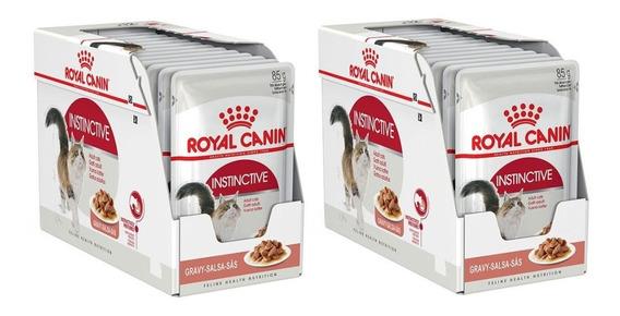 Combo 24un Sachê Royal Canin Instinctive 85g Cada