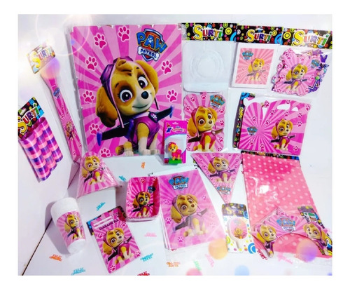 Set Kit Decoración Infantil Skye Paw Patrol Fiesta Niños