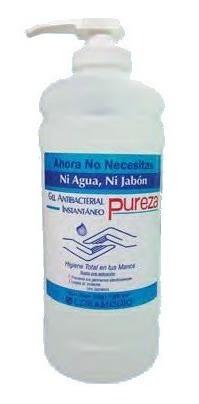 Gel Antibacterial Marca Pureza Original 1 L Con Valvula