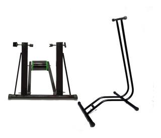 Rodillo Para Bicicleta + Base Estático Ciclismo Profesional