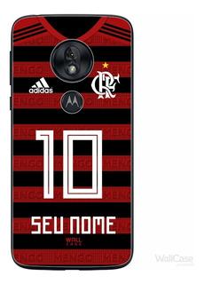 Capa Capinha Moto G7 Play Time Flamengo Nome E Numero