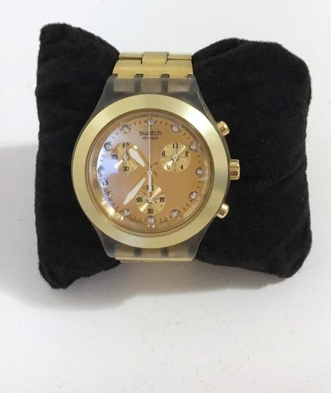 Relogio Original Swatch Gold