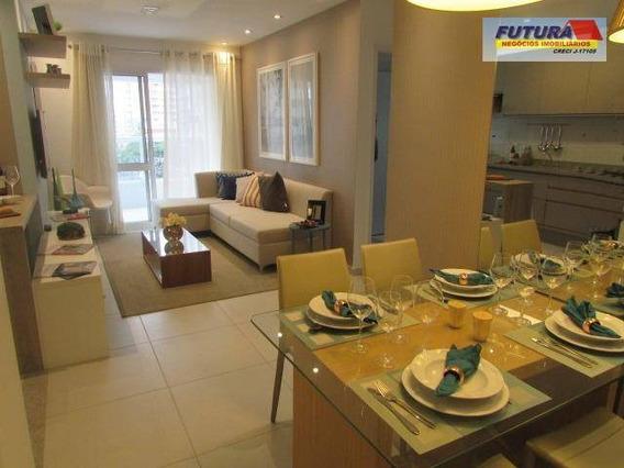Apartamento Com 2 Dormitórios À Venda, 71 M² Por R$ 320.000,00 - Vila Valença - São Vicente/sp - Ap1128