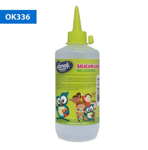 Imagen 1 de 3 de Silicona Liquida Adhesivo Ofimak 250ml. | Papelería Rayuela