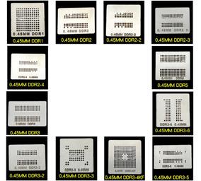 Stencil Memória Ddr Calor Direto Reballing Bga Ps4 Ps3 Xbox