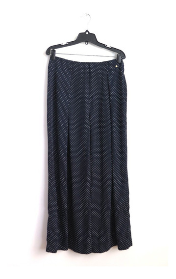 Pantalon Tipo Crepe Azul A Lunares Cacharel Talle 40