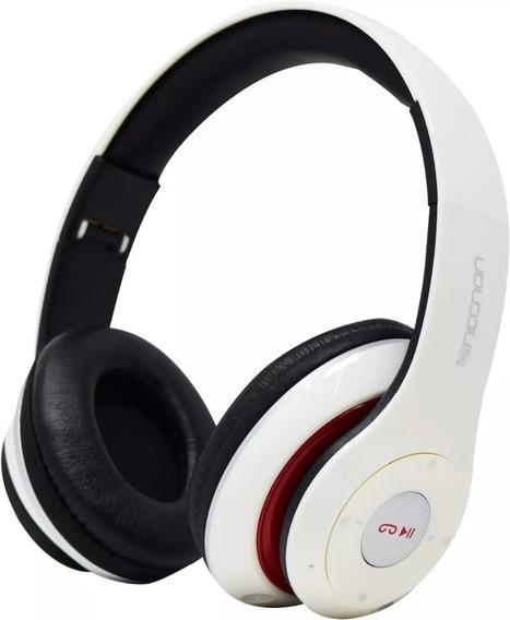 Audifonos Diadema Bluetooth Fm/sd Nbh-01 Necnon Blanco Micro