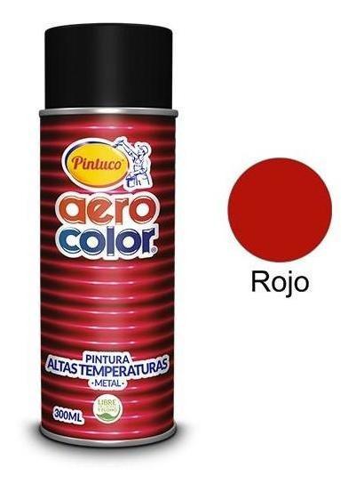 Aerosol Laca Alta Temperatura Mofle Rojo 300 Ml. Aerocolor