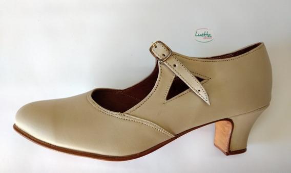 Zapatos Español/folklore , Cuero Legítimo, Excelente Calidad