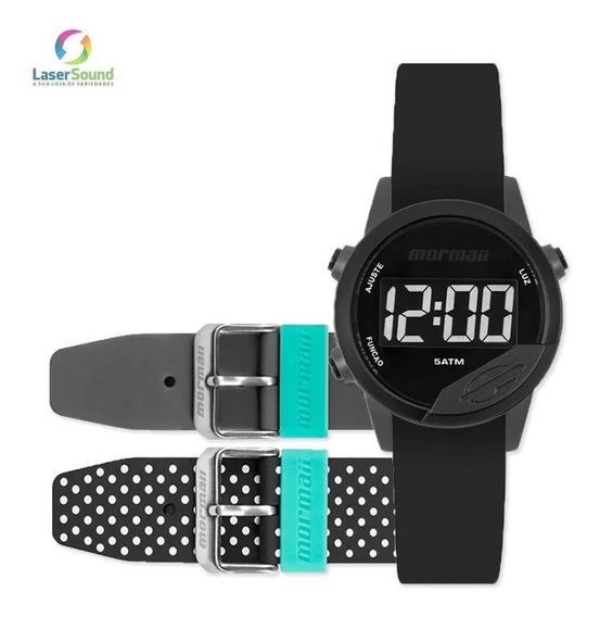 Relógio Mormaii Mude Unissex Mo4100ac/8p + 2 Pulseiras C/ Nf