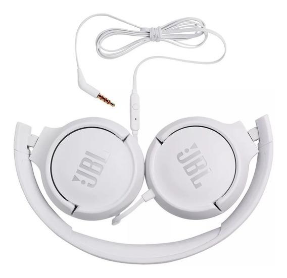 Fone De Ouvido Jbl Original Branco - Tune 500 Com Fio - Jbl