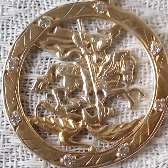 Vendo Cordão De Prata 950 Banhando Á Ouro Com Pingente 115g!