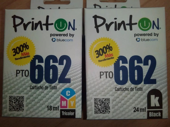 Cartucho Printon Pto Hp 662 Color