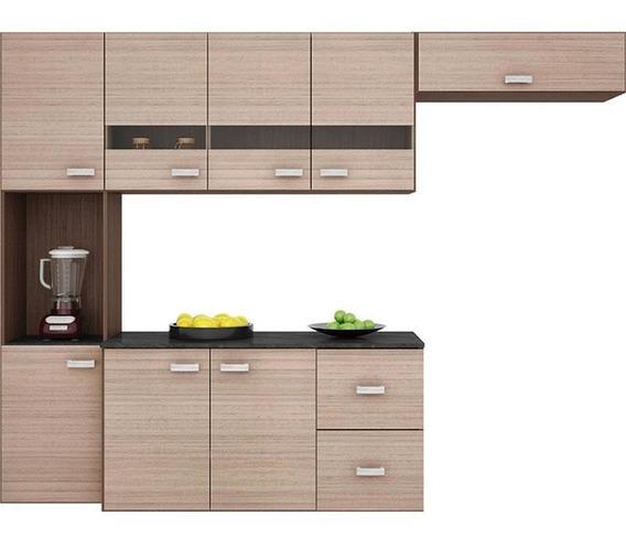 Cozinha Compacta Suspensa Julia 4 Peças - Poquema