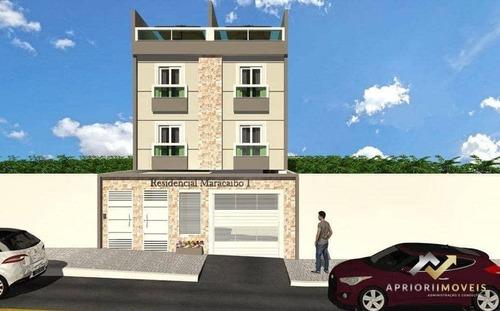 Cobertura Com 2 Dormitórios À Venda, 92 M² Por R$ 320.000 - Jardim Das Maravilhas - Santo André/sp - Co0637