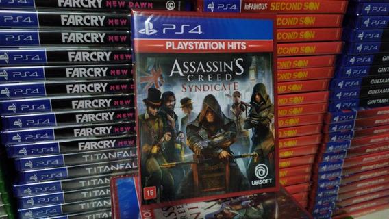 Assassins Creed Syndicate Ps4 Mídia Física Novo Português
