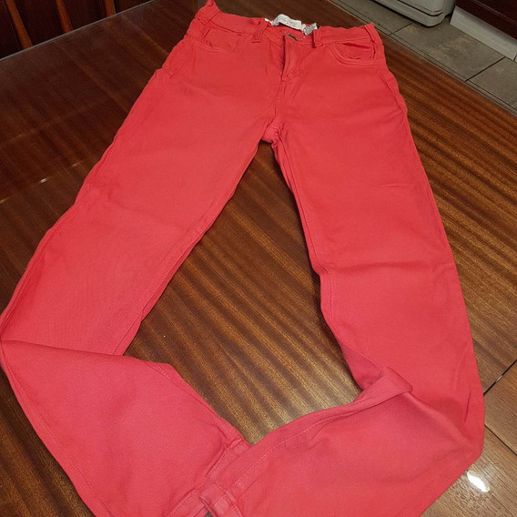 Pantalon By Hit Rojo Chupin Elastizado T1