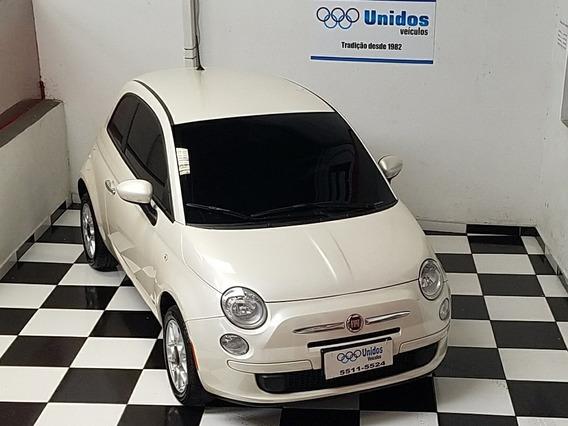 Fiat 500 1.4 Cult Flex 3p 2013 - Branco Pérola - Baixo Km