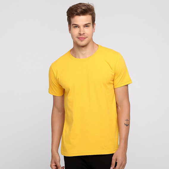 Kit 4 Camisetas Masculina Lisa Basica Algodão Atacado Combo