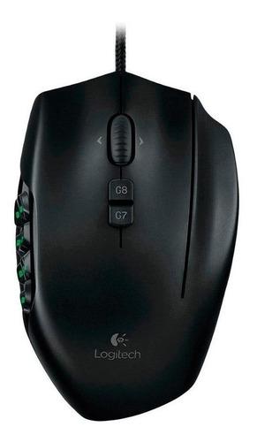 Imagen 1 de 2 de Mouse de juego Logitech  G Series G600 negro