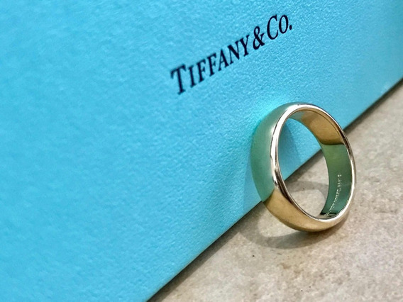 Anillo Tiffany Oro 18k Impecable Con Estuche 6mm 10.5 Gr
