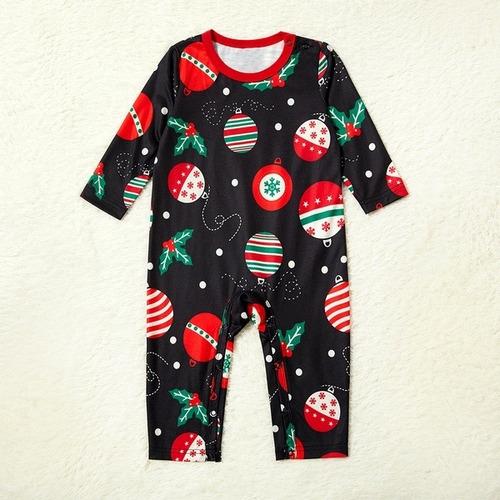 Imagen 1 de 1 de Pijama Bebe Navidad Bolas Nieve