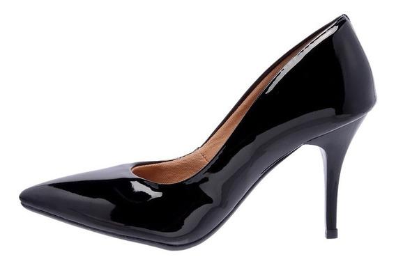 Sapato Scarpin Salto Médio 8cm - Sandália Feminina/ Feminino