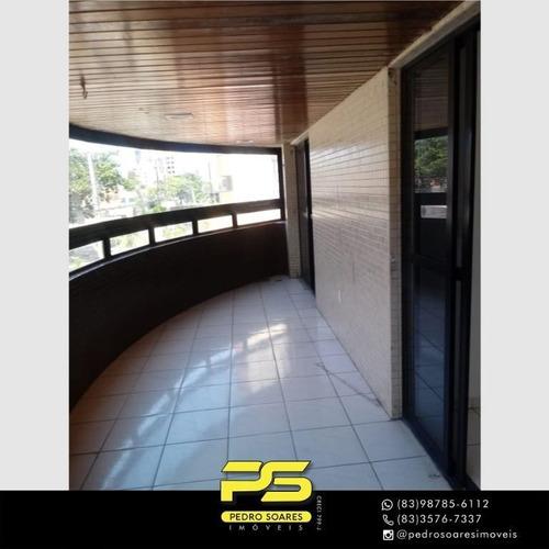 Apartamento Com 4 Dormitórios Para Alugar, 215 M² Por R$ 4.900/mês - Manaíra - João Pessoa/pb - Ap4525