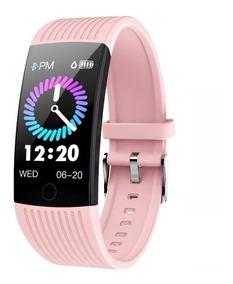 Relógio Inteligente Smartwatch Feminino Rosa Roxo Esportivo