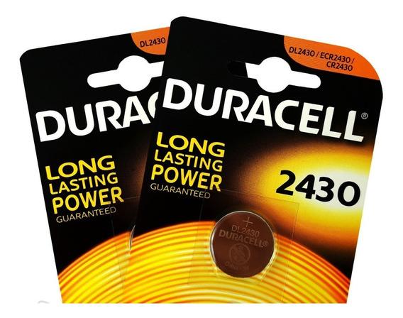 Kit 2 Baterias Duracell Cr2430 3v Lithium Importada Original