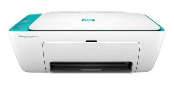 Impressora a cor multifuncional HP DeskJet Ink Advantage 2675 com Wi-Fi 100V/240V branca e azul