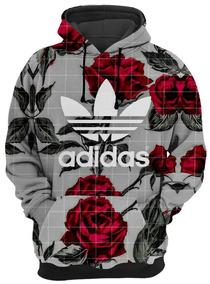 fb972917847 Roupa De Frio Moletom adidas Rose