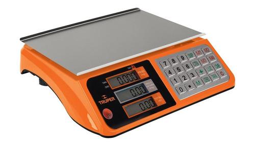 Imagen 1 de 2 de Báscula comercial digital Truper BASE-40 40kg 127V 33cm x 23cm